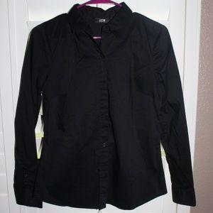 Apt 9 Black Button Down Dress Shirt